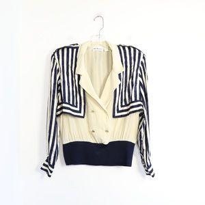 Vintage 80s Holt Renfrew striped nautical sailor M
